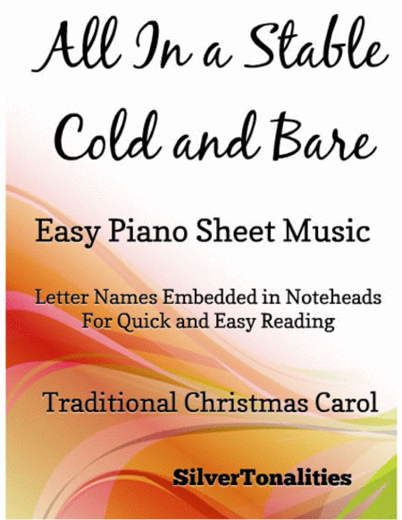 All In a Stable Cold and Bare Easy Piano Sheet Music