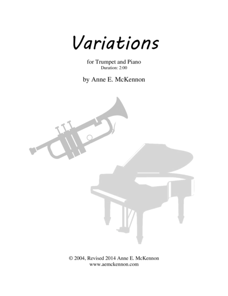 Variations for Trumpet and Piano