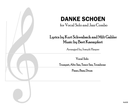 Danke Schoen (Vocal and Jazz Combo)