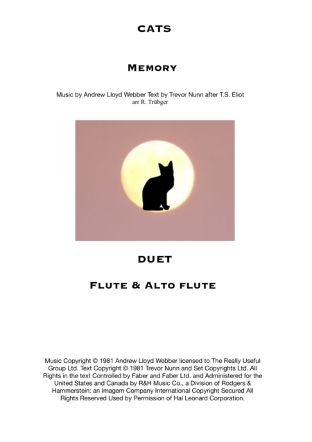 Memory from Cats - Duet for Flute and Alto flute