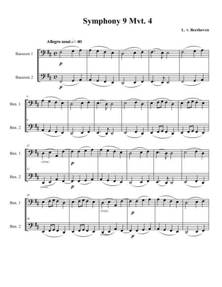 Theme from Symphony 9