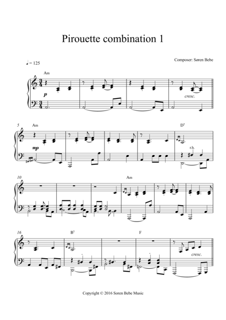 Music for Ballet Class - Pirouette combination (Waltz 1)