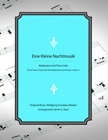Eine Kleine Nachtmusik - Moderate level piano solo