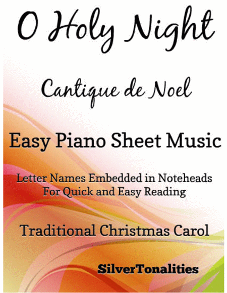 O Holy Night Easy Piano Sheet Music