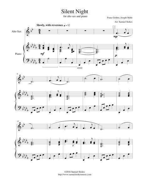 Silent Night - for alto sax and piano