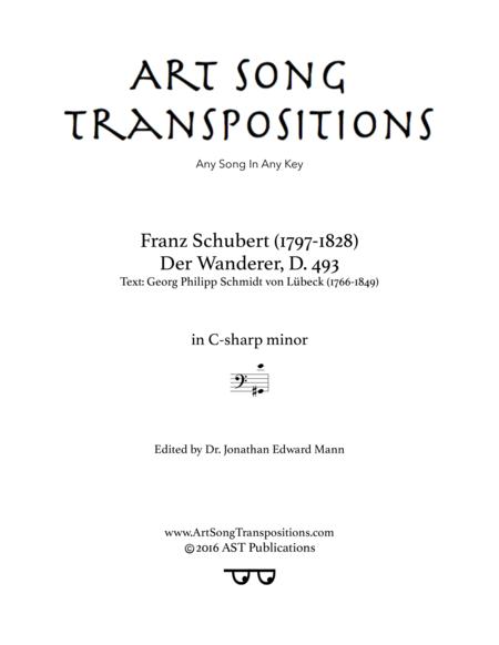 Der Wanderer, D. 493 (C-sharp minor, bass clef)