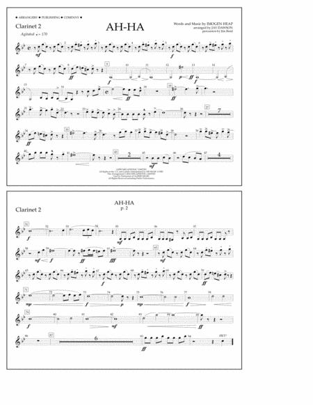 Ah-ha - Clarinet 2