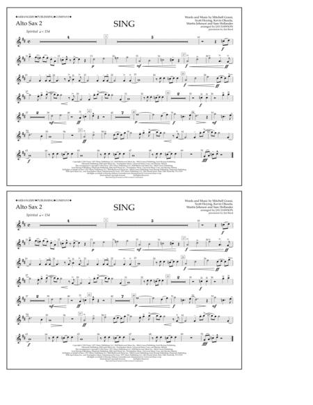 Sing - Alto Sax 2