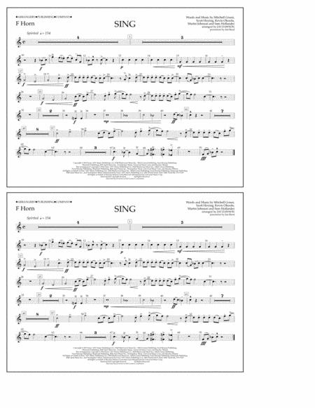 Sing - F Horn