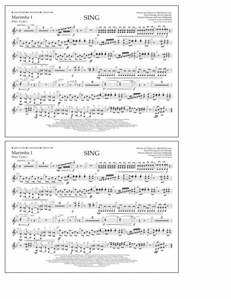 Sing - Marimba 1