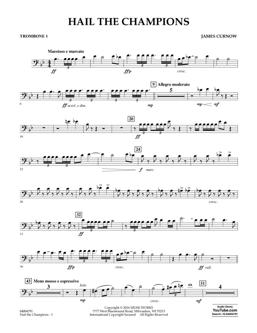 Hail the Champions - Trombone 1