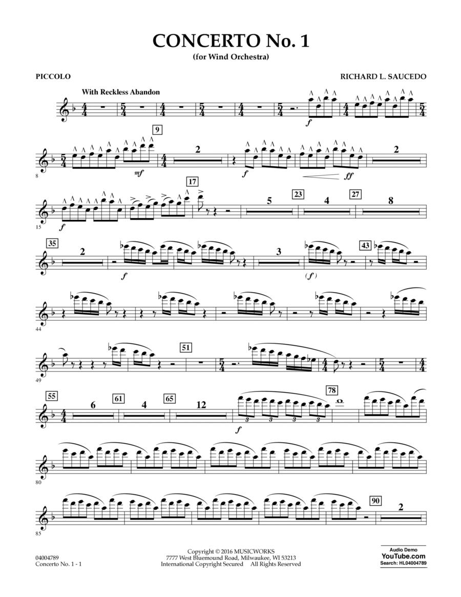 Concerto No. 1 (for Wind Orchestra) - Piccolo