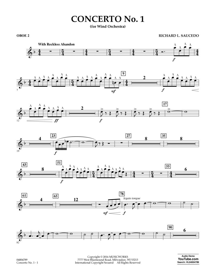 Concerto No. 1 (for Wind Orchestra) - Oboe 2