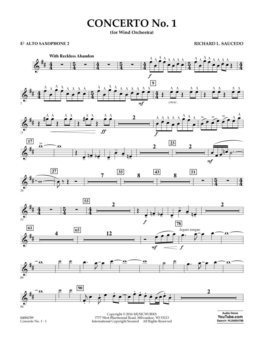 Concerto No. 1 (for Wind Orchestra) - Eb Alto Saxophone 2