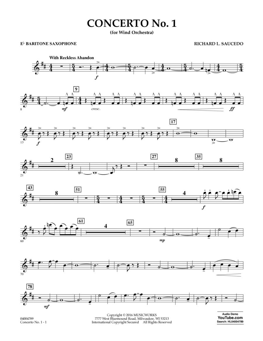 Concerto No. 1 (for Wind Orchestra) - Eb Baritone Saxophone