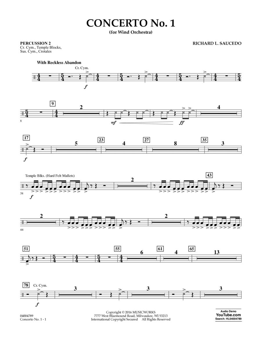 Concerto No. 1 (for Wind Orchestra) - Percussion 2