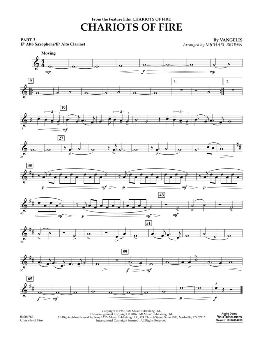Chariots of Fire - Pt.3 - Eb Alto Sax/Alto Clar.