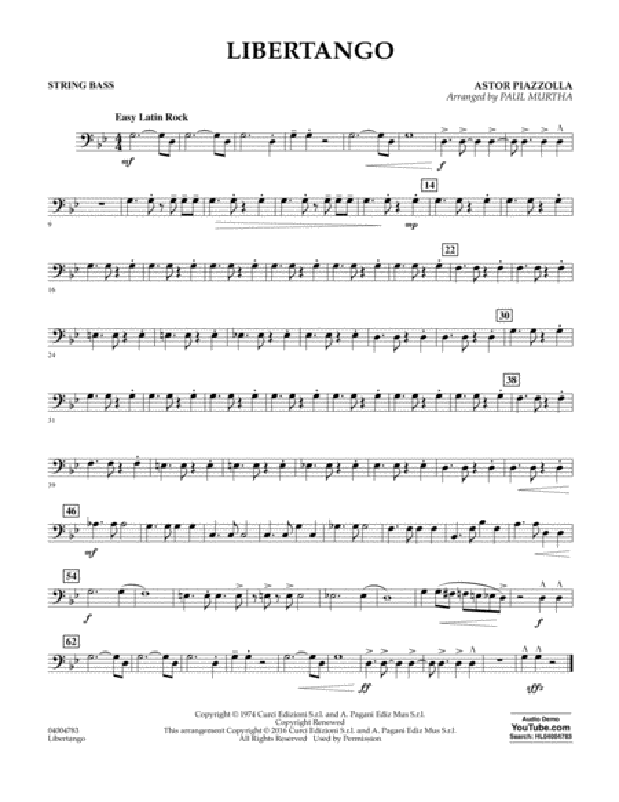 Libertango - Bass