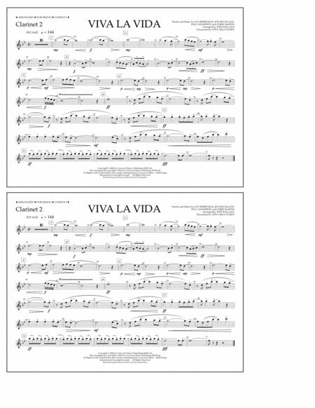 Viva La Vida - Clarinet 2