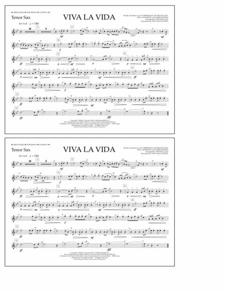 Viva La Vida - Tenor Sax