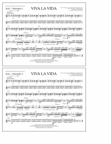 Viva La Vida - Xylo./Marimba 1