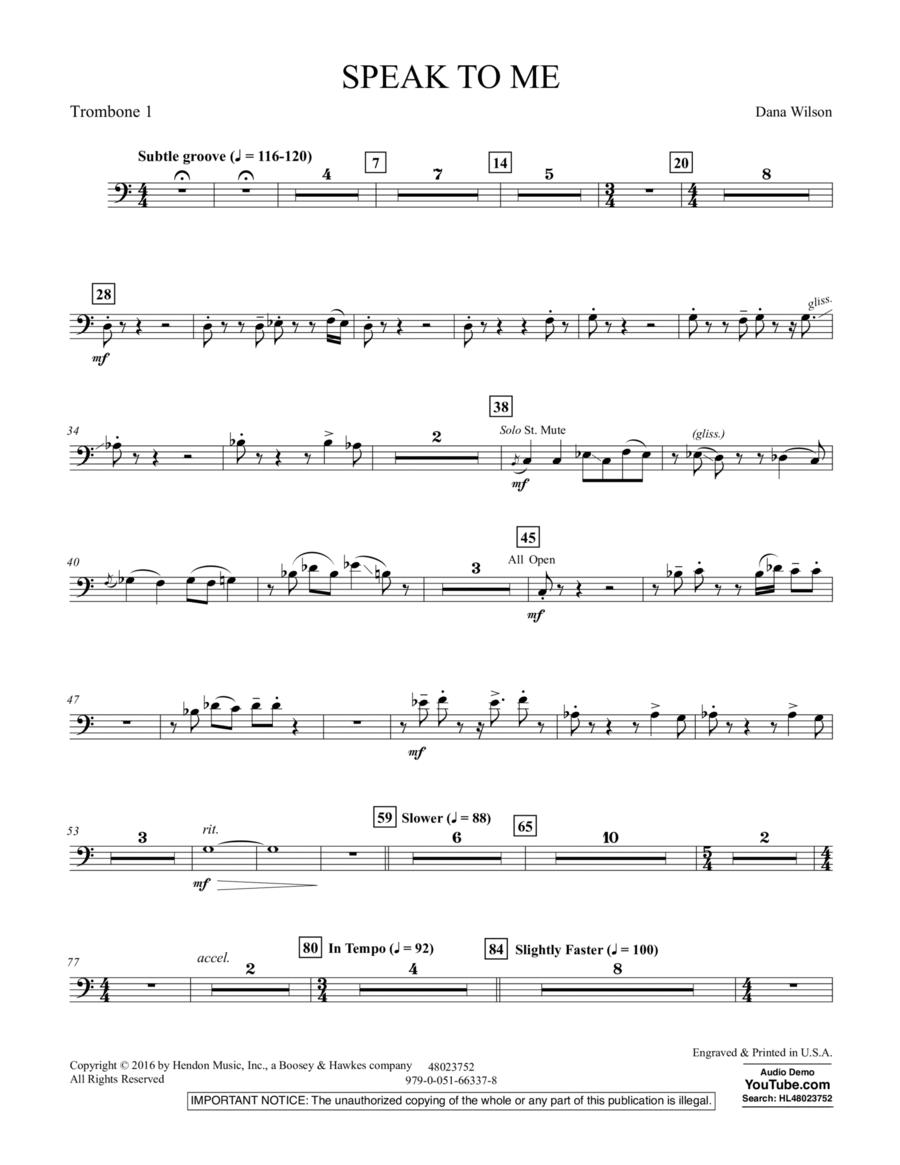 Speak to Me - Trombone 1