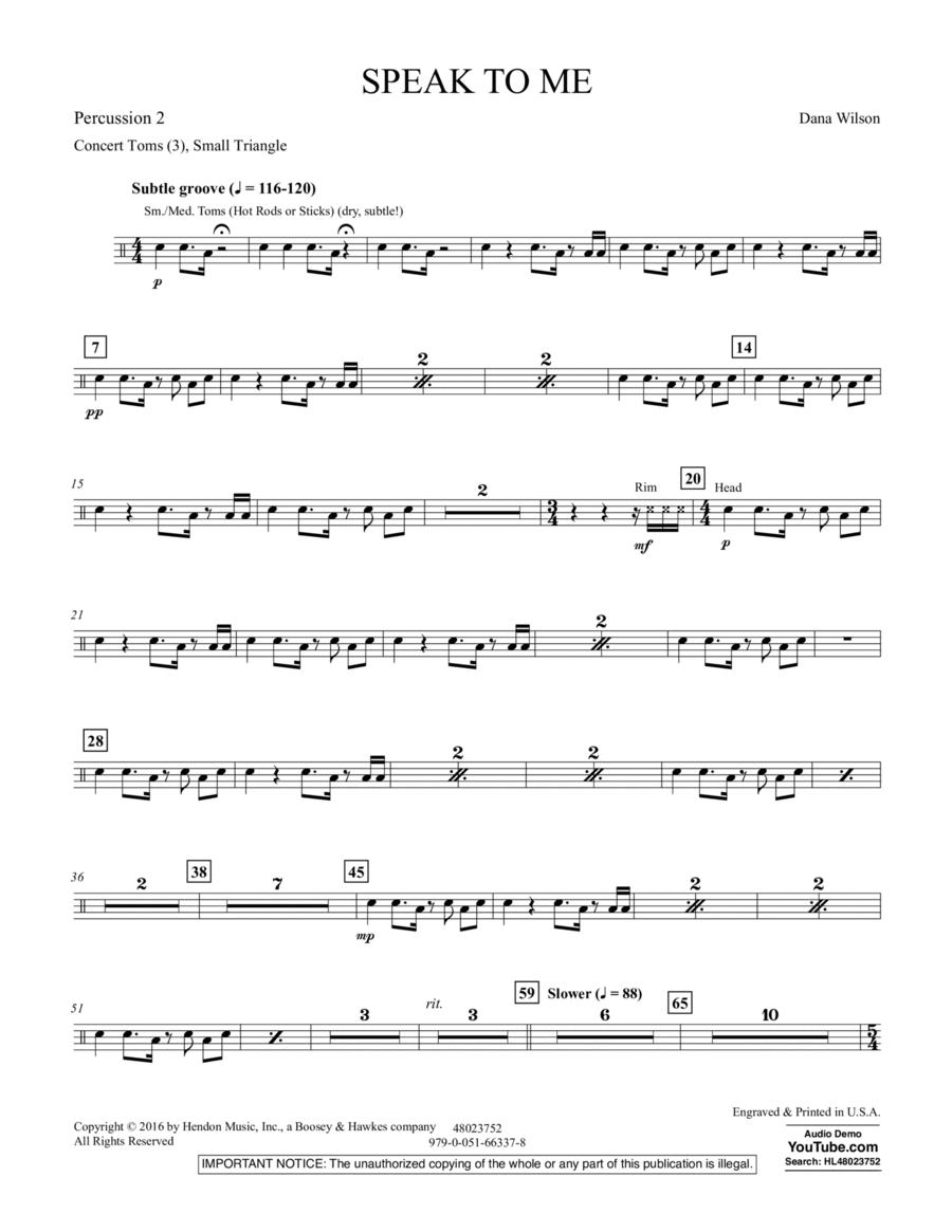 Speak to Me - Percussion 2