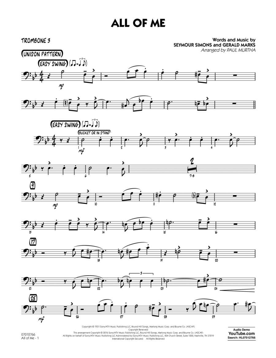 All of Me - Trombone 3