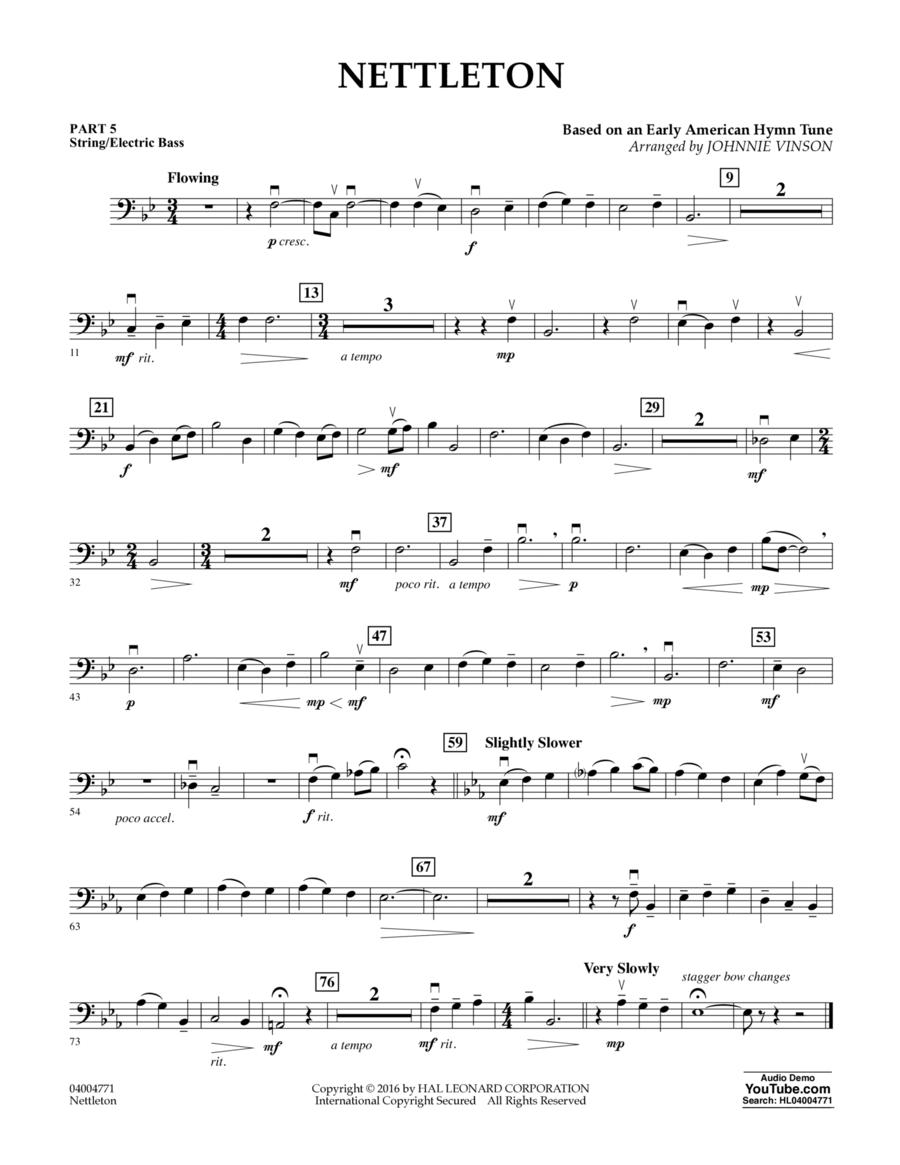 Nettleton - Pt.5 - String/Electric Bass