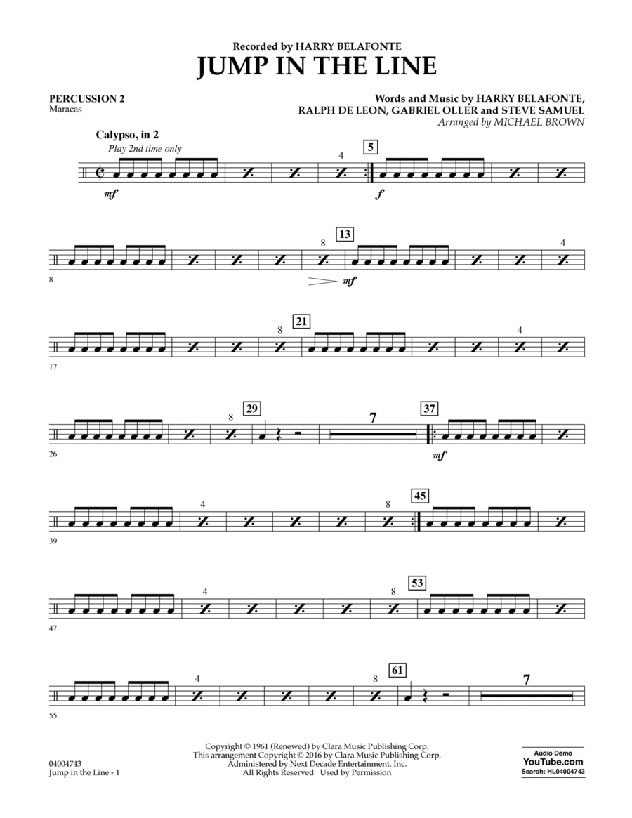 Jump in the Line - Percussion 2