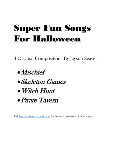 4 Super Fun Songs For Halloween