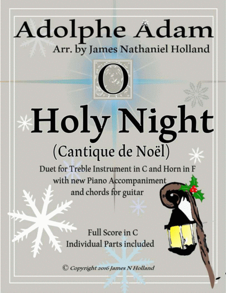 O Holy Night (Cantique de Noel) Adolphe Adam Duet for Treble Instrument in C and French Horn