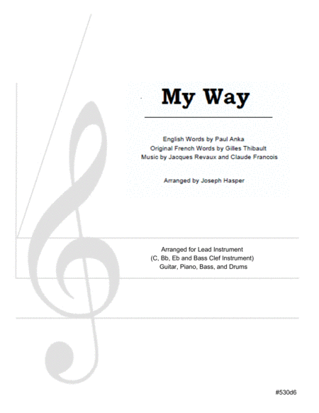 My Way (Basic Jazz Combo)