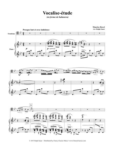 Vocalise-étude for Trombone & Piano