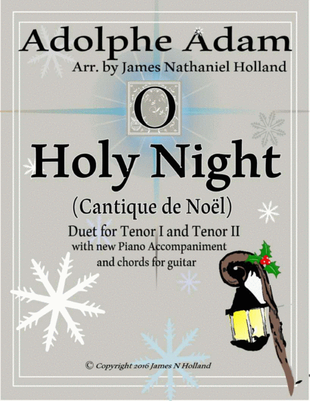 O Holy Night (Cantique de Noel) Adolphe Adam Duet for Tenors