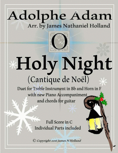 O Holy Night (Cantique de Noel) Adolphe Adam Duet for Treble Instrument in Bb and French Horn