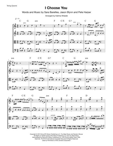 I Choose You (for string quartet)