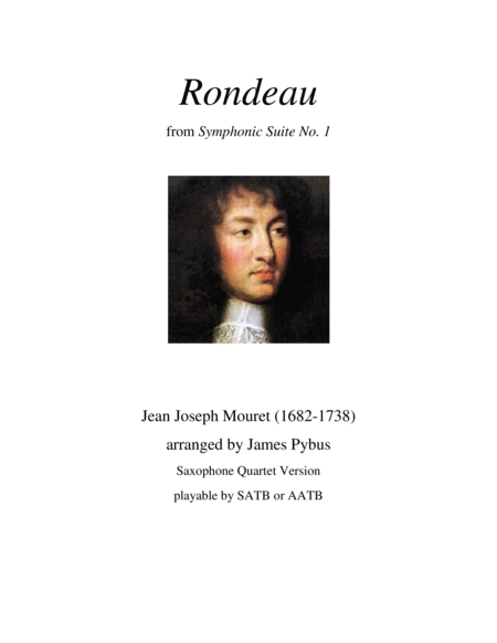 Rondeau from Symphonic Suite No. 1 (Masterpiece Theatre theme) (saxophone quartet version)