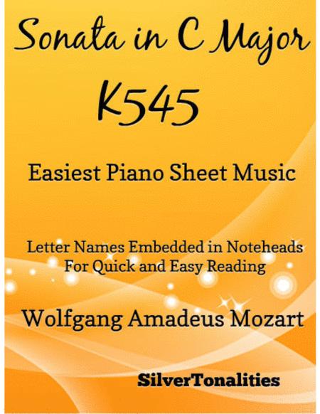 Sonata in C Major K545 1st Mvt Easiest Piano Sheet Music