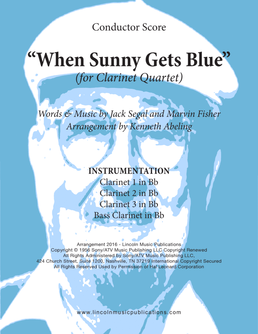 Jazz - When Sunny Gets Blue (for Clarinet Quartet)