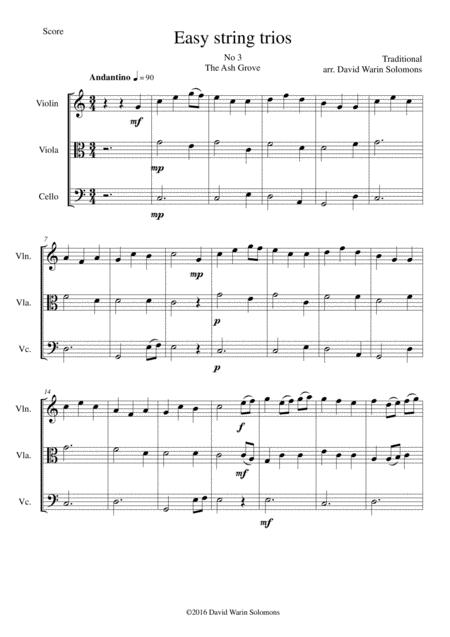 The Ash Grove (Llwyn Onn) for string trio