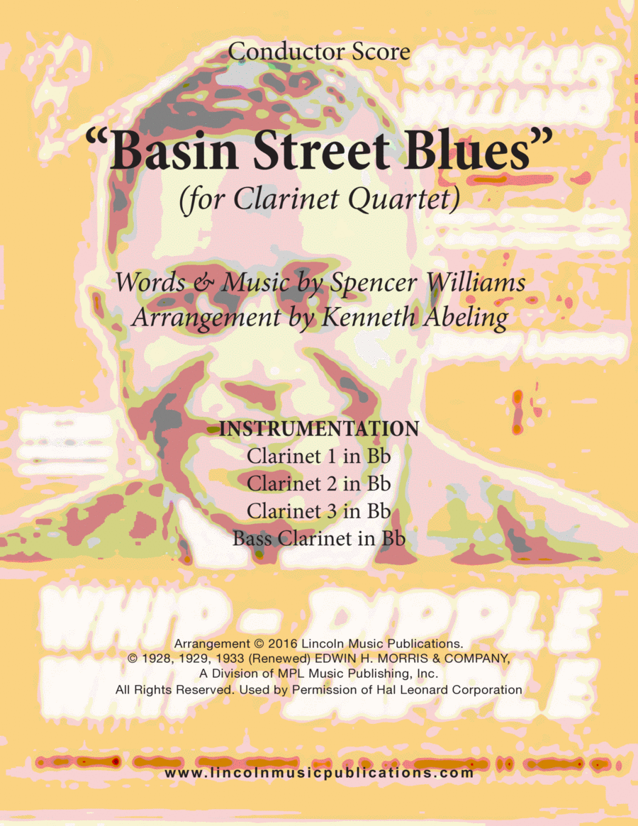 Dixieland - Basin Street Blues (for Clarinet Quartet)