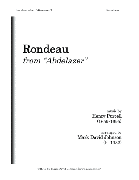 Rondeau (from
