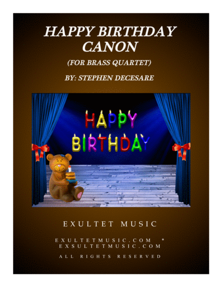 Happy Birthday Canon (for Brass Quartet)