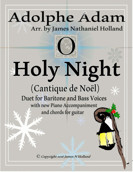 O Holy Night (Cantique de Noel) Adolphe Adam Duet for Baritone and Bass