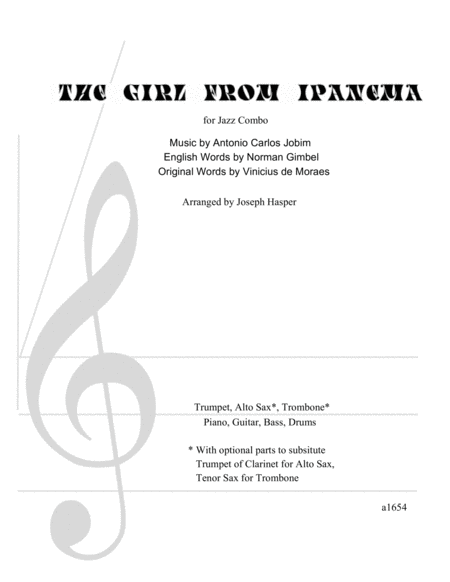 The Girl From Ipanema (Flexible Jazz Combo)