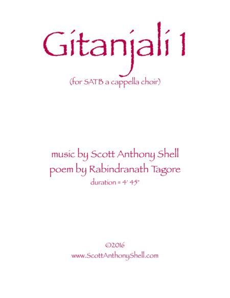 Gitanjali 1 (SATB a cappella choir)