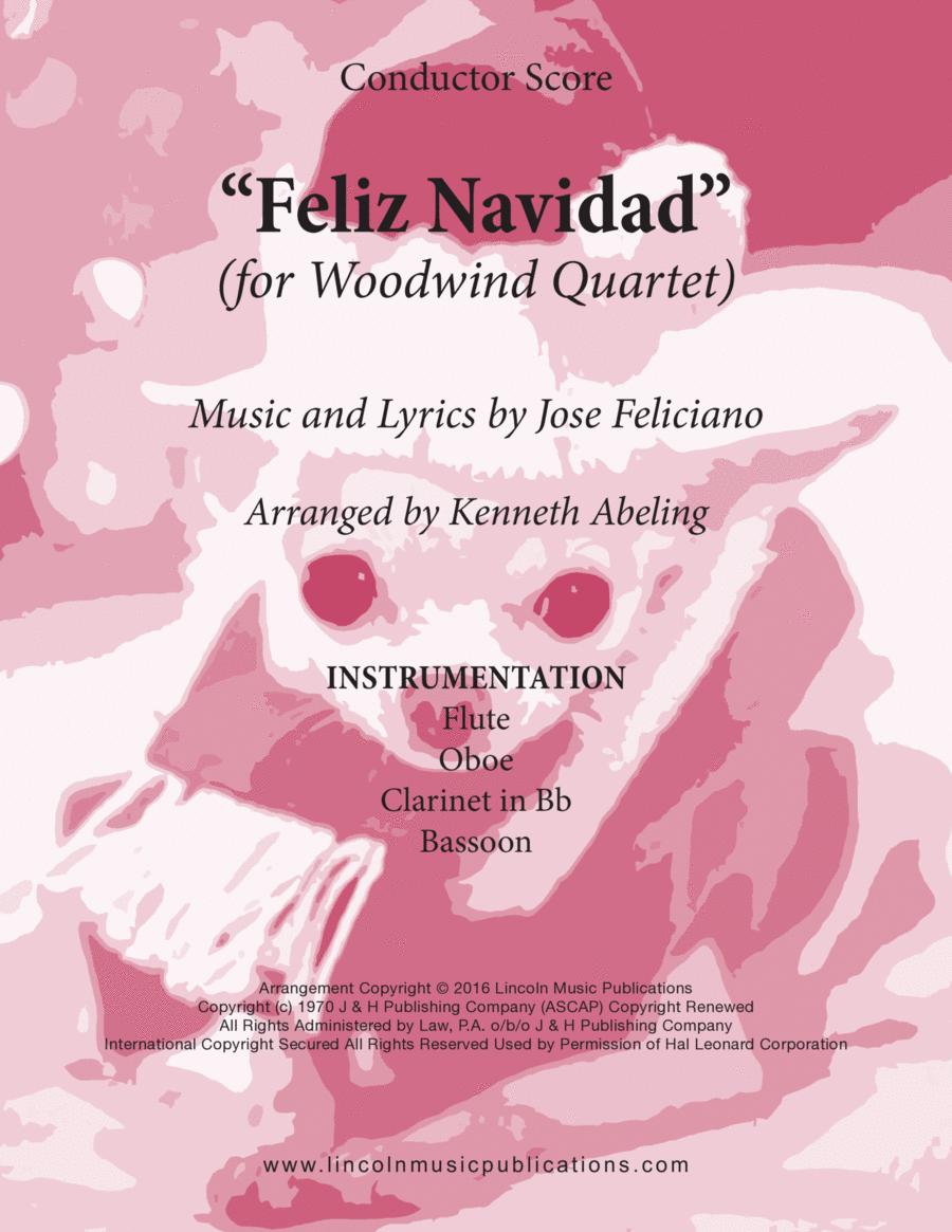 Christmas - Feliz Navidad (for Woodwind Quartet)
