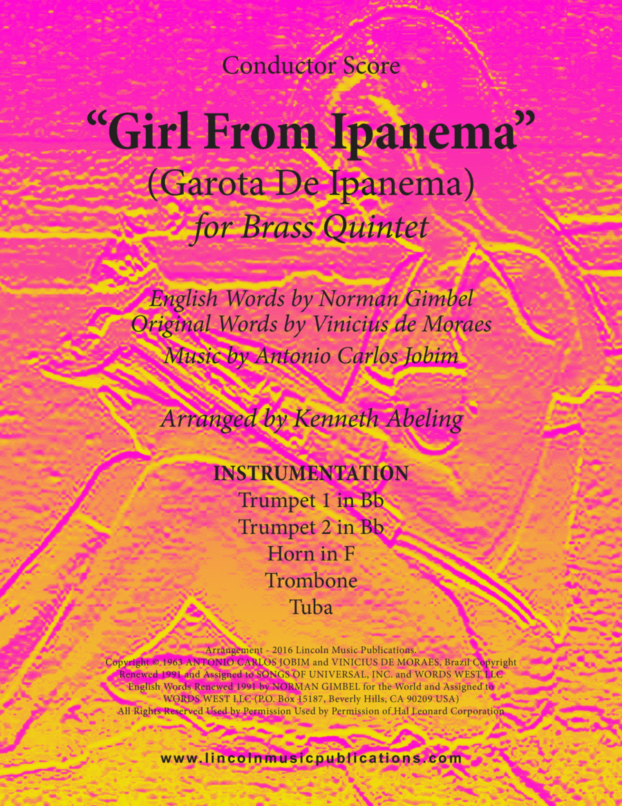 Jazz - The Girl From Ipanema (Garota De Ipanema) (for Brass Quintet)