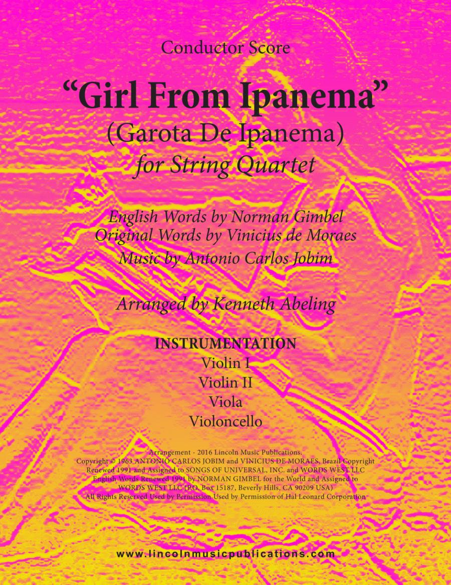 Jazz - The Girl From Ipanema (Garota De Ipanema) (for String Quartet)